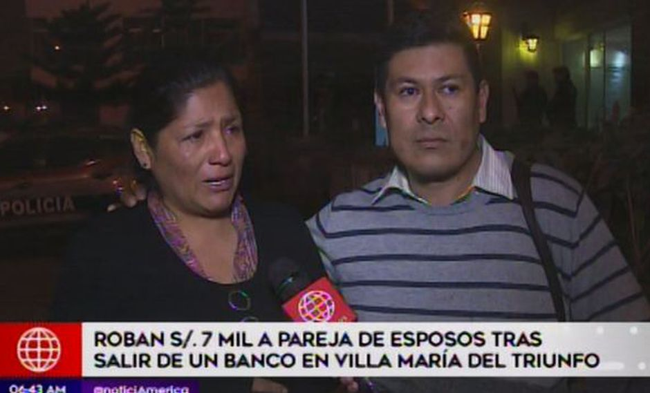 Roban 7 mil soles a esposos. (Foto: Captura de video / América Noticias)