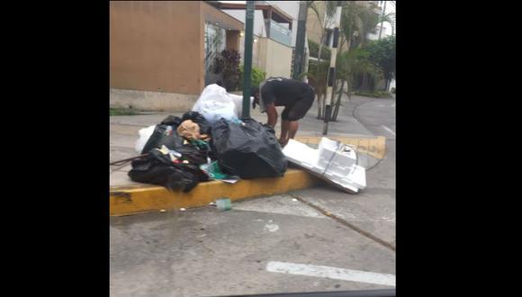 Municipalidad de Surco indicó que la falta del recojo de basura fue causado por la empresa Petramás. (Captura: Canal N)