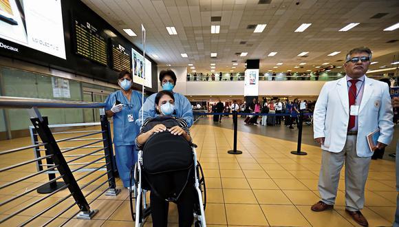 Alerta. Minsa asegura que desde enero viene aplicando protocolo en el aeropuerto para detectar casos sospechosos de coronavirus. (GEC)