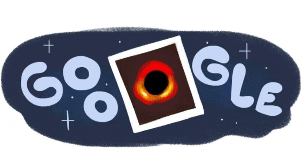 Google lanzó un doodle celebrando la primera imagen de un agujero negro. (Foto: Google)