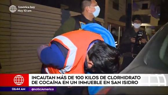 Los detenidos fueron intervenidos en flagrancia. (Captura video América TV)