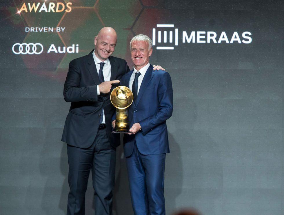 Didier Deschamps, ganó el premio a Mejor Entrenador del 2018. (Foto: Globe_Soccer)