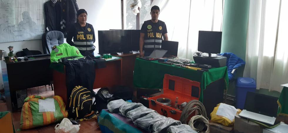 Policía capturó a la banda y recuperó las especies robadas a empresa por S/350 mil. (GEC)