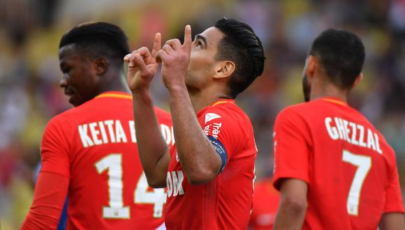 Radamel Falcao es el goleador de la Ligue 1 con 11 conquistas y pretende replicar su hazaña con el Mónaco a nivel europeo. (AFP)