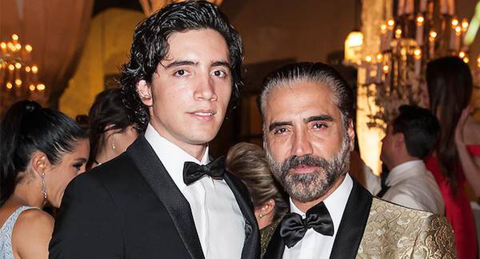 """""""Mi papá ni siquiera toma"""", dijo el hijo de Alejandro Fernández. (Instagram Alex Fernández)"""