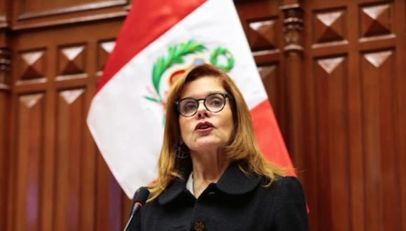 """Mercedes Araoz: """"Mi renuncia ha sido irrevocable y no puedo cambiar mi posición"""". (Foto: Congreso de la República)"""