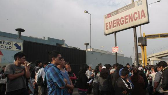 Heridos están en hospital Dos de Mayo. (USI/Referencial)