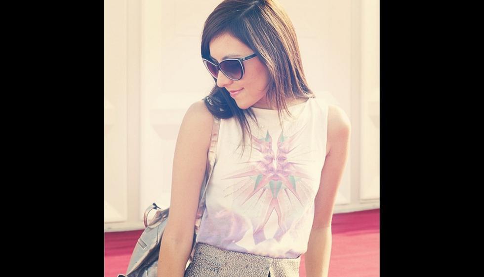 1. Tana Rendón. Este fue el look metálico que Tana llevó a la última de edición de Perú Moda. (@tanarendon)