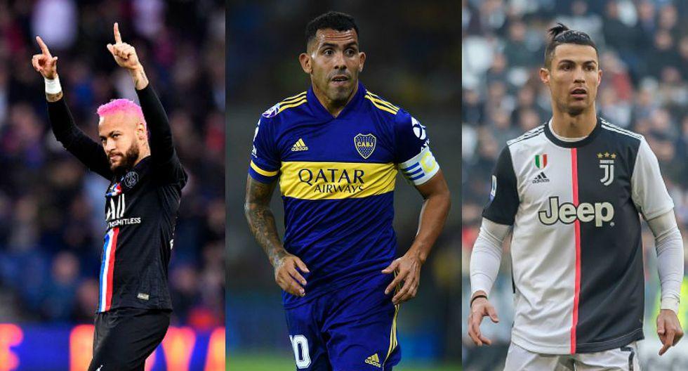 Cristiano Ronaldo, Neymar y Carlos Tévez celebran hoy su cumpleaños. (Composición Getty)