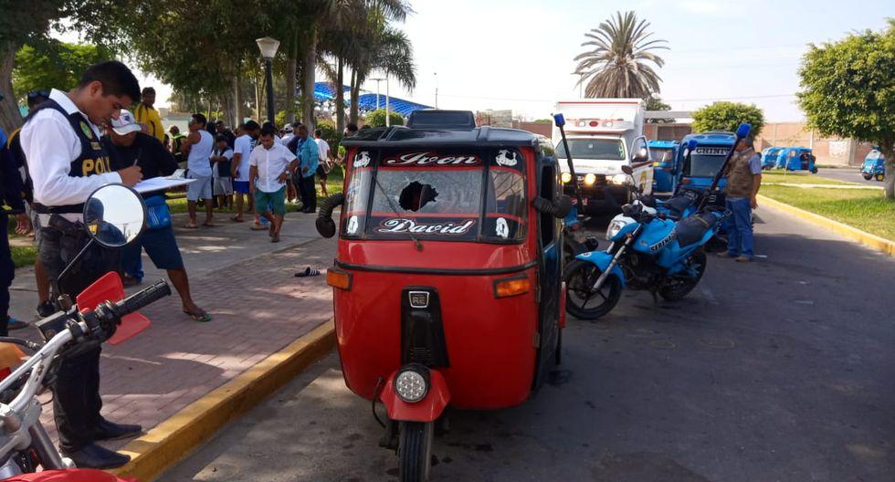 Mototaxista intentó ponerse a salvo pero sicarios lo alcanzaron y le dispararon. (GEC)