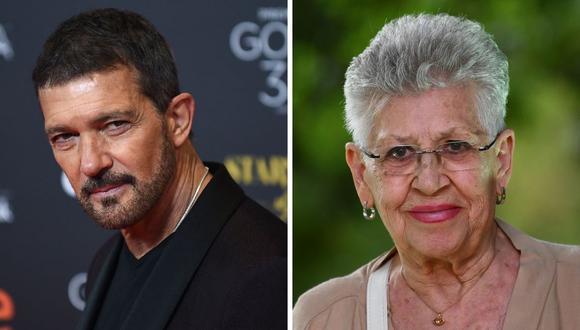 Antonio Banderas mostró toda su admiración por la actriz Pilar Bardem quien falleció este sábado. (Foto: Jorge Guerrero /  Gabriel Buoys / AFP)