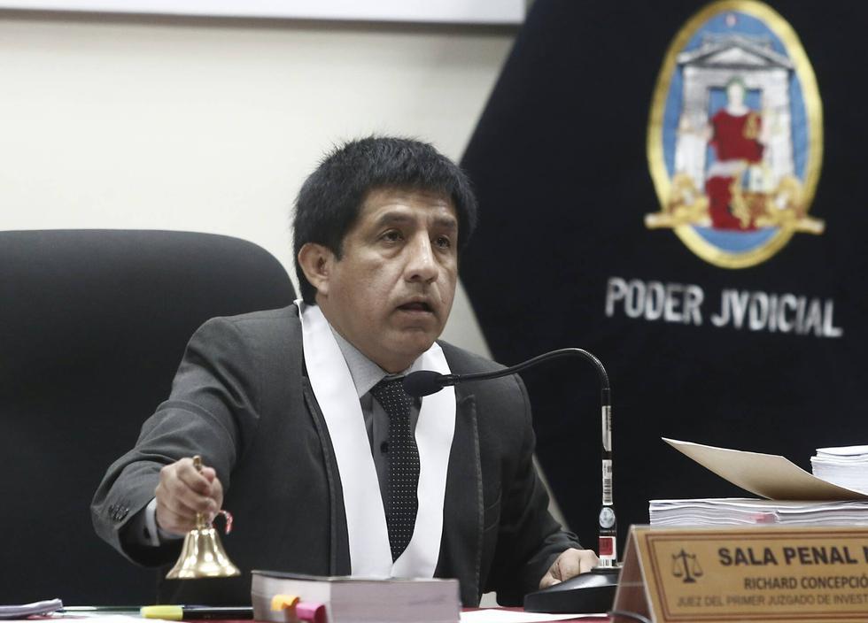 Juez Richard Concepción Carhuancho dirige la audiencia. (Geraldo Caso)