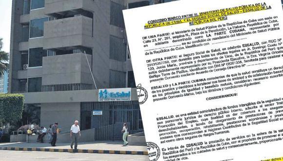 DOCUMENTO. El convenio marco que será debatido por el consejo directivo de Essalud en mayo. (USI)