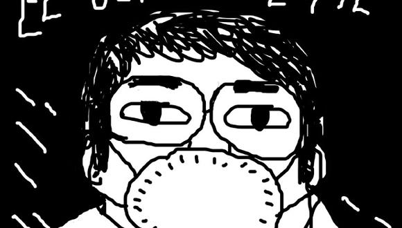 """""""El último selfie"""", detalle de la ilustración de Amadeo Gonzales publicada en su nuevo fanzine """"Salvaje""""."""