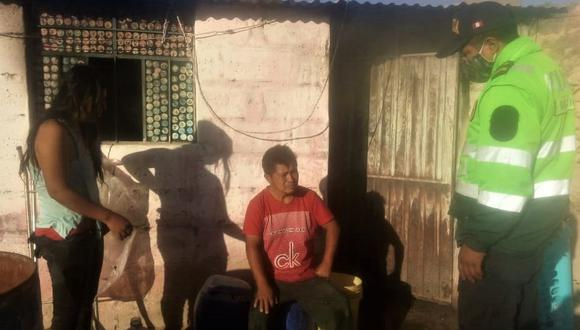 Arequipa: Agentes de la comisaría de Yura detuvieron al obrero Ricardo Manuel Begazo Saña (30), quien fue denunciado por su conviviente de haberla intentado quemar viva.