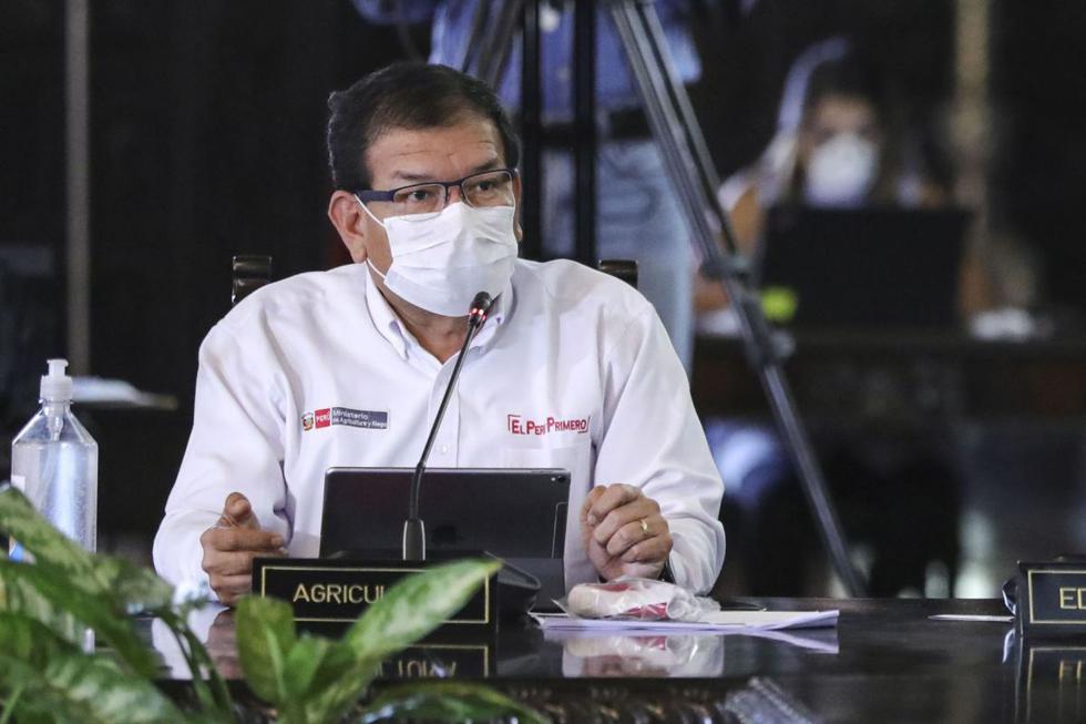 El ministro de Agricultura, Jorge Montenegro, dio positivo por coronavirus. ¿Qué otras personalidades políticas han sido contagiadas de esta enfermedad? (Foto: Andina)