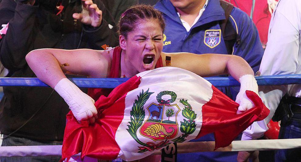 """""""Hoy cuando abrí los ojos me dolía la cara, pero no podía creer que era campeona mundial"""", agregó. (Andina)"""