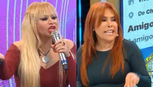 Susy Díaz discute con Magaly Medina por defender a Walter Obregón, denunciado por agresión. (Foto: Captura Magaly TV: La Firme).