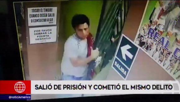 Los agentes de la comisaría de Manchay le han perdido el rastro y ahora está libre. (Foto: Captura/América Noticias)