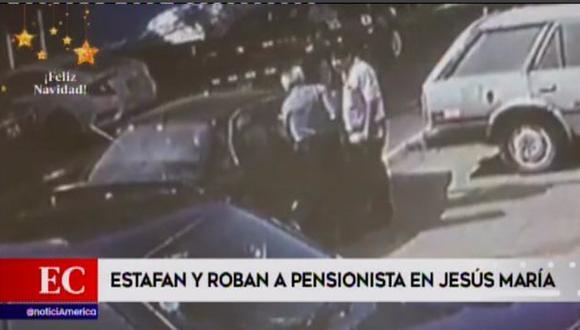 Un anciano fue víctima de la delincuencia cerca de su vivienda, ubicada en Jesús María (Foto: América Noticias)