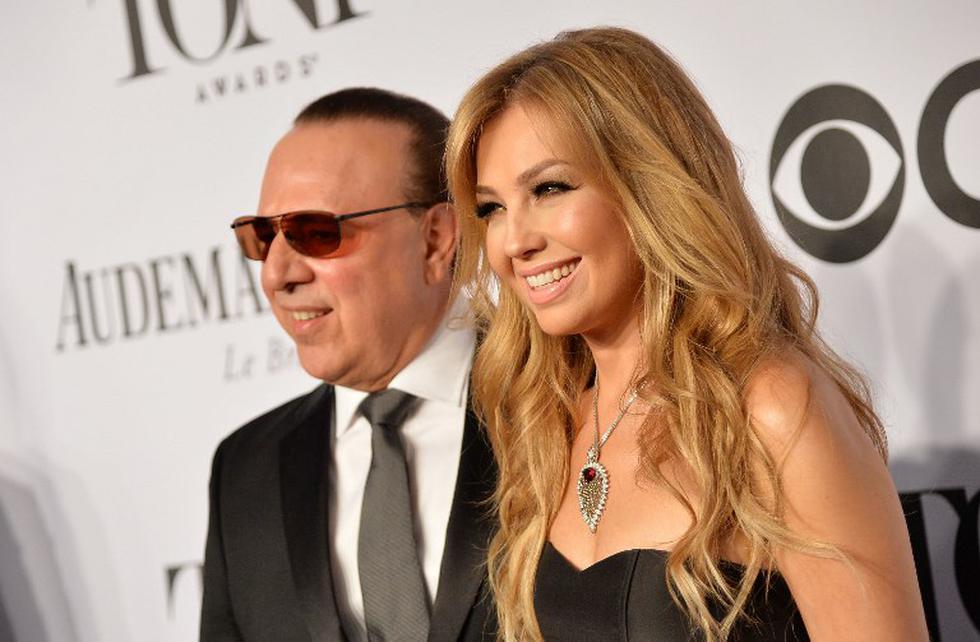 Thalía y su esposo Tony Mottola | Foto: AFP