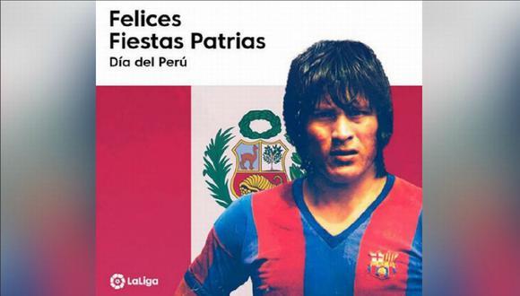 Hugo Sotil destacó en su paso por el Barcelona de España. (Facebook: @LaLiga)