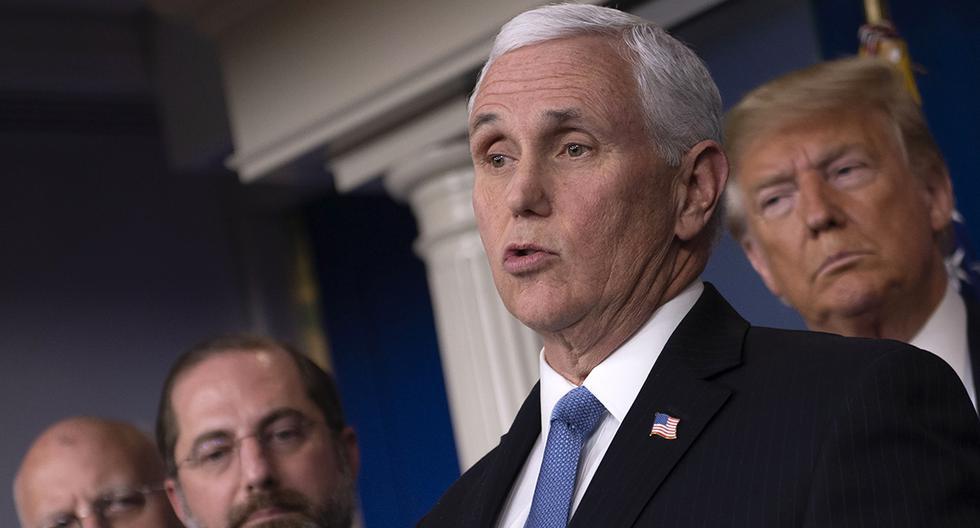 El vicepresidente de los Estados Unidos, Mike Pence, habla durante una conferencia de prensa sobre el brote de COVID-19 en la Casa Blanca. (AFP/Eric Baradat).