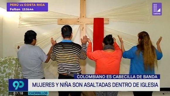 Este suceso ocurrió el pasado sábado 2 de junio, cerca de las 8:00 p.m., cuando estos dos sujetos irrumpieron la iglesia. (Foto: Captura 'Latina')