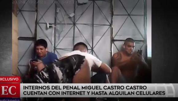 En pabellón del penal Castro Castro internos tienen celulares e Internet y hasta alquilan. (América Noticias)