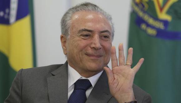 """Michel Temer señala que """"nada"""" detendrá al gobierno ante investigaciones a ministros por caso Petrobras (AP)."""