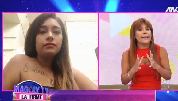 Gianella Ydoña declaró para el programa de Magaly Medina tras enfrentarse a familiares de Josimar. (Foto: Captura ATV)