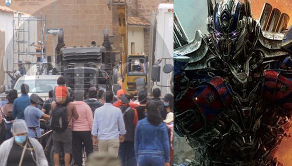 """Calles aledañas al Mercado Central de San Pedro, en Cusco, vienen sufriendo remodelaciones para las nuevas escenas de acción de la película """"Transformers, el despertar de las bestias"""". (Foto: Oscar Guerrero/GEC/Paramount Pictures Studios)"""