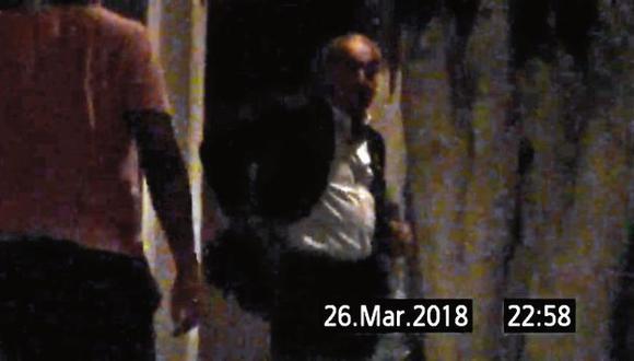 Chávarry salió de la casa de Hinostroza casi a las 11 p.m. del 26 de marzo de 2018. (GEC)