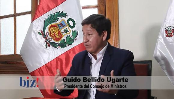 Guido Bellido brindó una entrevista en la que reiteró que no buscan cerrar el Congreso. (Biz Republic)