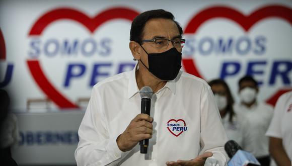 Martín Vizcarra es el candidato 1 de la lista de Somos Perú al Congreso por Lima Metropolitana. (Foto: Miguel Yovera/@photo.gec)