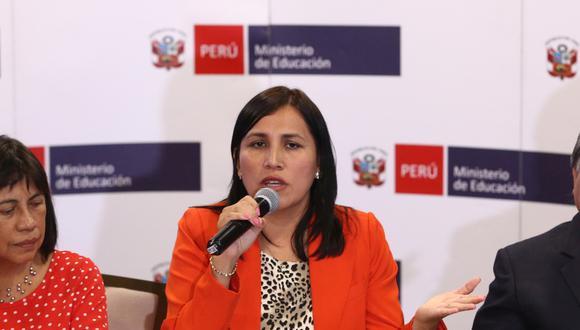 La ministra Flor Pablo reconoció que hay una brecha existente entre las universidades y los institutos. (Foto: GEC)