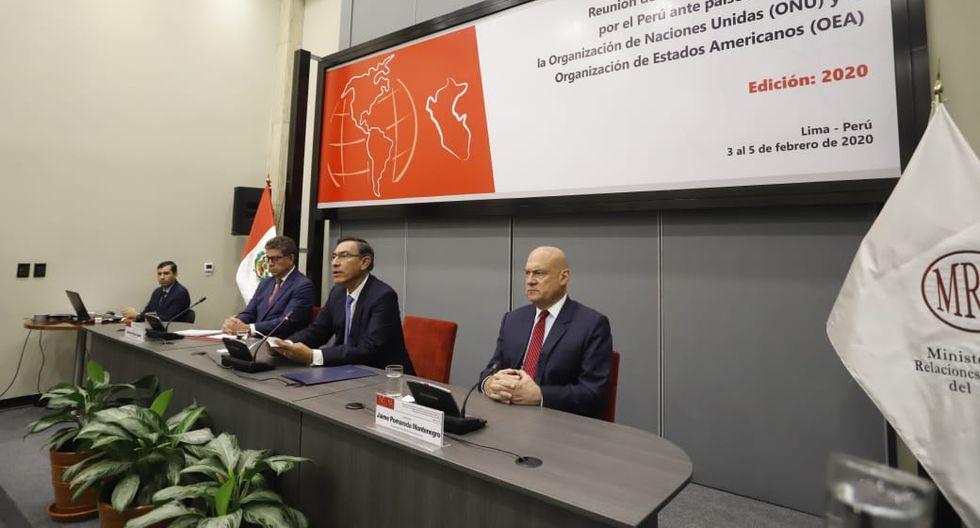 Vizcarra participó en la reunión de embajadores acreditados por el Perú ante la ONU y la OEA (Presidencia).