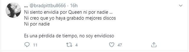 Andrés Calamaro responde en Twitter por la banda