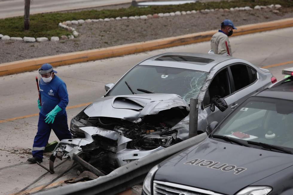 Accidente en Miraflores no dejó heridos. (Foto: Ángela Ponce / GEC)