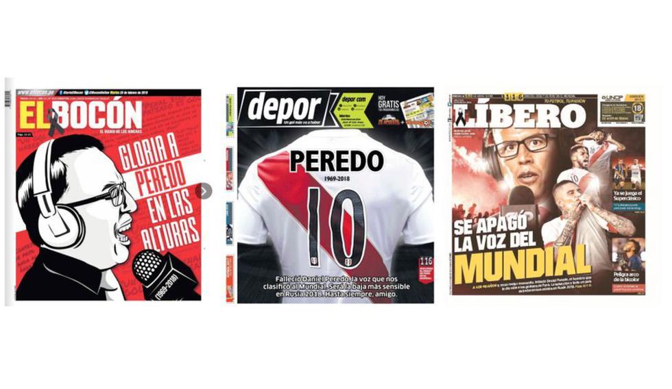 Daniel Peredo en las portadas de los diarios.