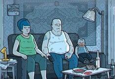 Mira la inquietante y oscura versión rusa de la aclamada serie animada 'Los Simpsons'| VIDEO
