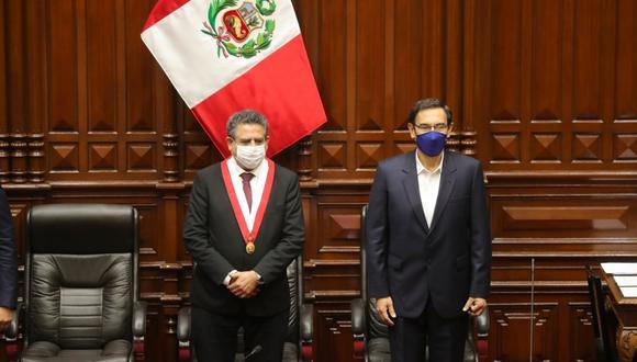 Manuel Merino se refirió al archivamiento de la vacancia contra el presidente Martín Vizcarra. (Foto: Presidencia de la República)