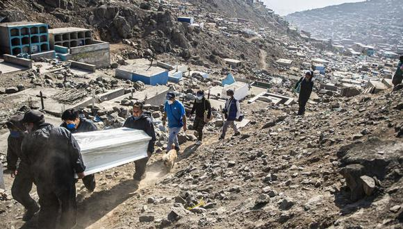 Cifras de decesos y contagios por COVID-19 en Perú sigue en aumento. Foto: AFP