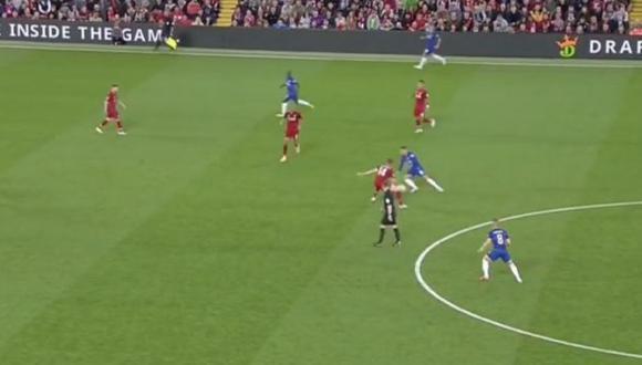 Eden Hazard la dio la victoria a Chelsea sobre Liverpool con este golazo. (Captura: YouTube)