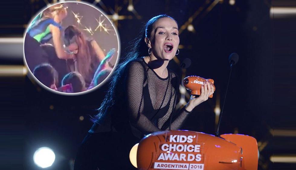 Natalia Oreiro sufrió una dolorosa caída en los Kids' Choice Awards Argentina. (Foto: @natalia_oreiro_world)