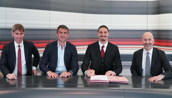 Zlatan Ibrahimovic renovó contrato con Milan hasta el final de la próxima temporada. (Foto: AC Milan)