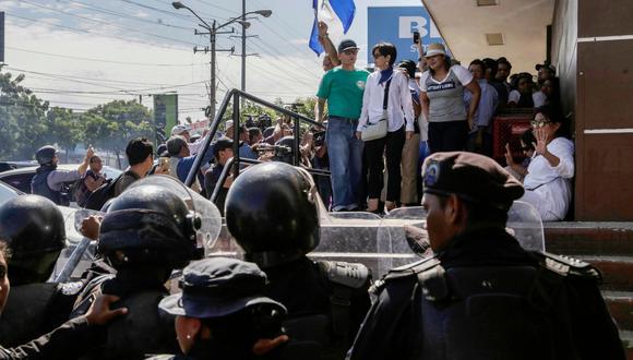 Diversas entidades internacionales se pronunciaron en contra de las represiones durante una marcha contra el gobierno de Ortega. (Foto: AFP)