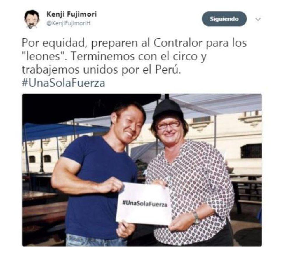 Kenji Fujimori lanzó decenas de tuits contra su partido