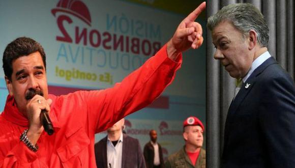"""""""El presidente  Santos me tiene que pedirme la bendición"""", dijo Nicolás Maduro. (EFE)"""