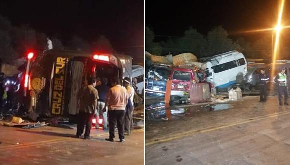 Accidente dejó como saldo al menos 14 muertos y más de 40 heridos en Arequipa. (@COENPeru)
